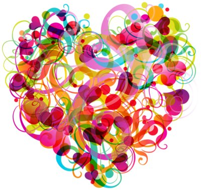 Abstract Colorful Heart PNG Clipart 994