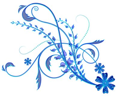 Blue Floral Ornament PNG Picture
